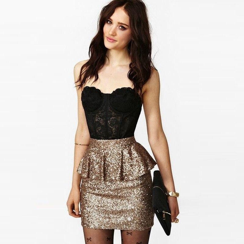 d208156afc faldas de moda brillantes