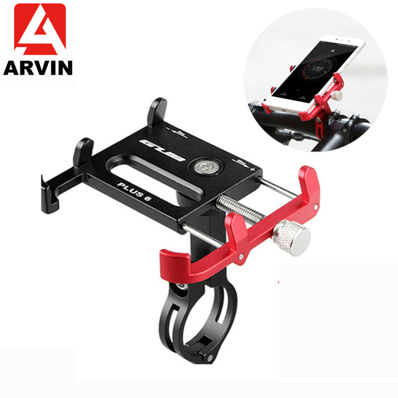 ARVIN Aluminum Motorcycle Bicycle Phone Holder For IPhone Adjustable Universal Bike Mobile Phone GPS Mount Handlebar Clip Stand