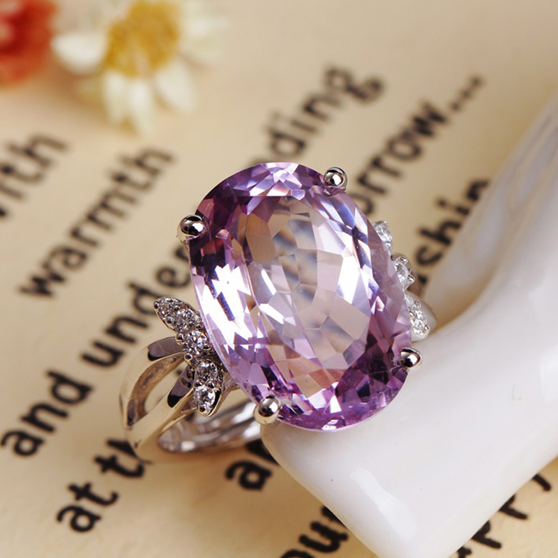fashion jewelry factory wholesale silver gold inlaid natural Semi-precious stones t ring jewel ring for woman