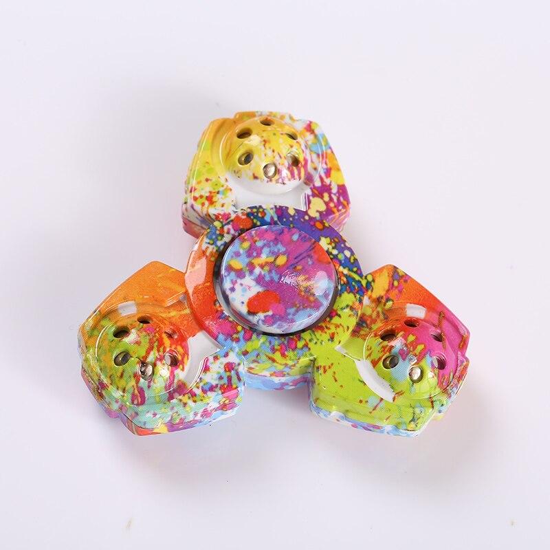 New Colorful Tri Fidget Spinner Ceramic EDC Hand Finger Spinner Focus Toy