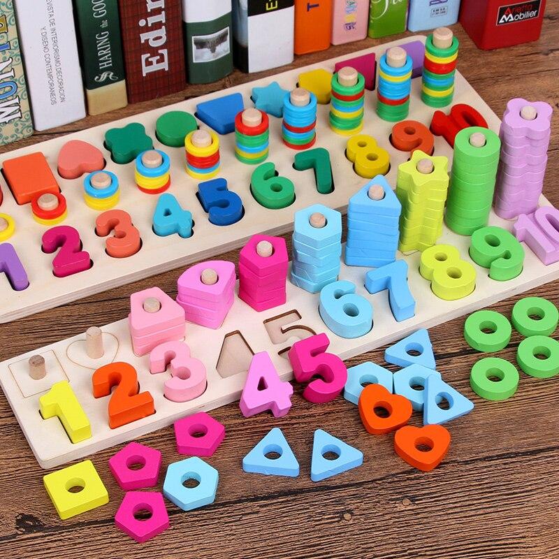 Materiales montessori aprendizaje educativos juego juguetes de los niños de madera en blanco rompecabezas clasificación sensortoys madera oyuncak giochi