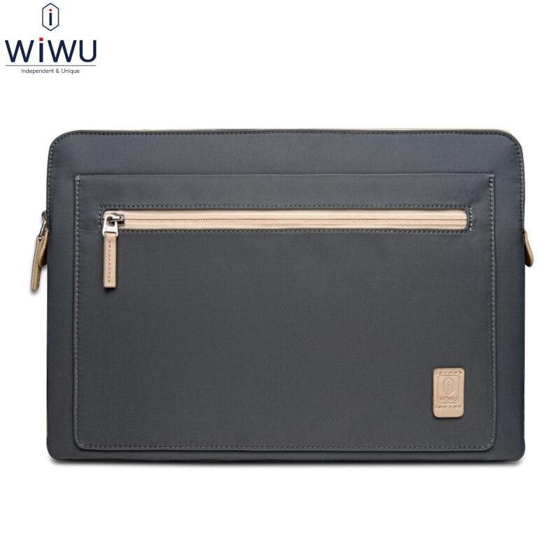 WiWU Laptop Sleeve Bag for Apple iPad Pro 12.9 Pouch for Macbook Air/Pro 13 13.3 15 15.4 Tablet Notebook Bag Zipper Waterproof