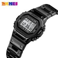 Sports Watches Women Stainless Steel LED Digital Military Waterproof Ladies Wrist Watch For Girls relogio feminino SKMEI