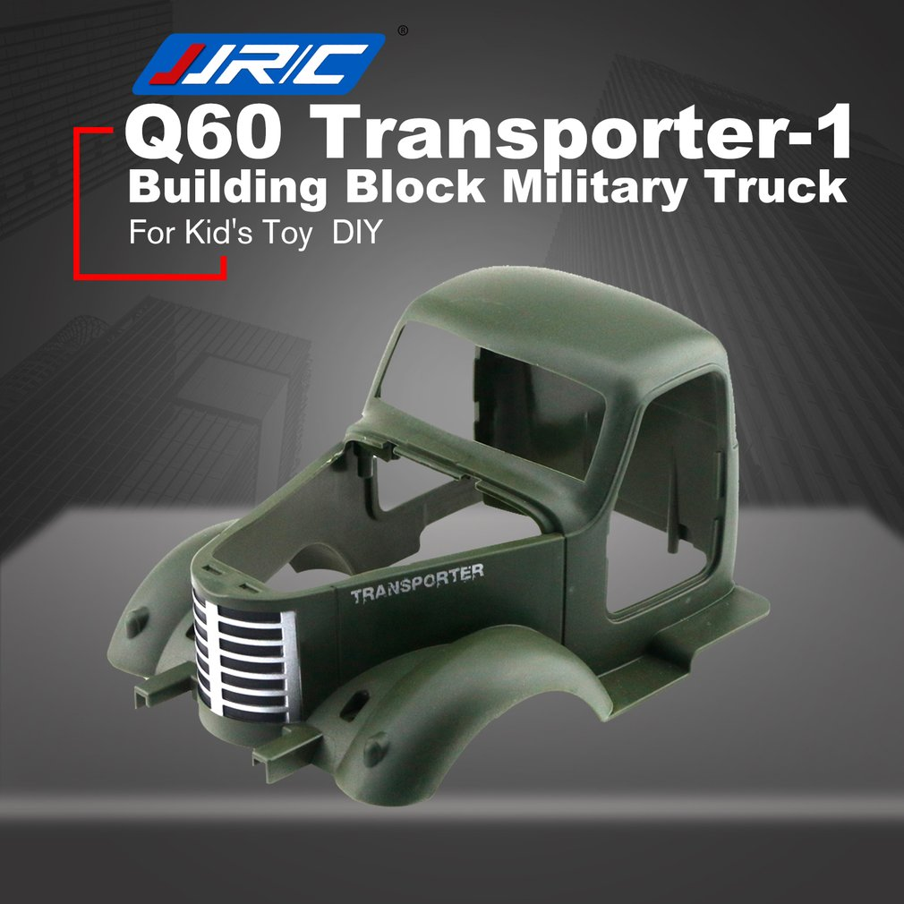 JJR/C Q60 Transporter-1 2.4G Building Block Simulated Military Truck DIY Electric RC Car Model For Children Gift willys jeep 1 10