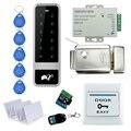 Control remoto RFID Teclado Puerta Sistema de Seguridad de Control de Acceso Kit Set Con Control Electrónico De Bloqueo de La Puerta Con Llaves Para Home-C50