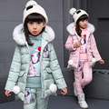 Spring winter Kids Girls clothing sets teenage Winter 2017 cotton 3pcs set