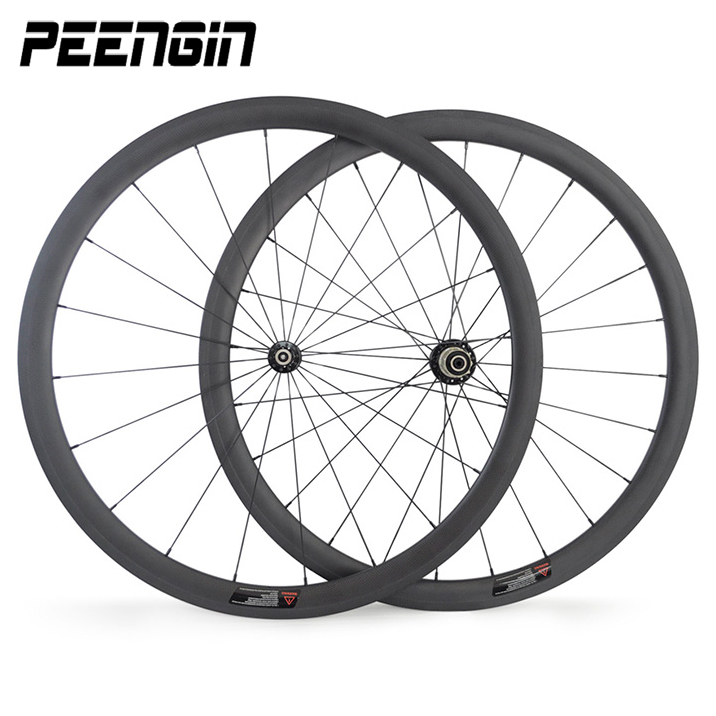 Awesome 38 mm carbon wheelset clincher 700c road wheels 23mm wide U shape tubular bicycle rim Novatec hub cycling parts for sale far sports carbon wheels 50mm clincher 23mm wide with novatec hub and sapim spokes novatec carbon wheels fsc50cm 23 700c
