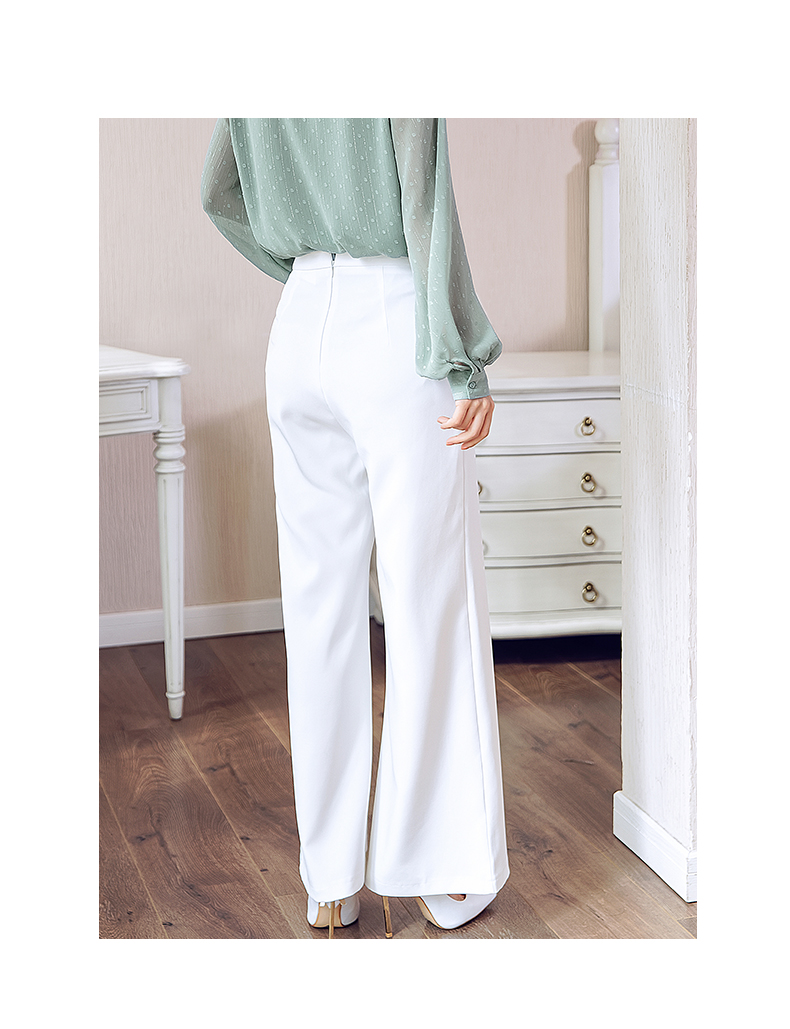 HTB1AaliMSrqK1RjSZK9q6xyypXa6 - British OL style women's high waist wide leg pants casual loose female full length trousers with double gold buckles PA001