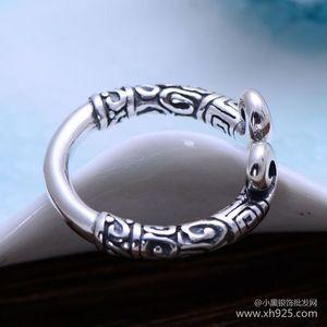 Image 4 - KJJEAXCMY fijne sieraden 925 Sterling zilveren sieraden herstellen oude manieren taiyin de heilige hoepel magic vrouwelijke stijl ring