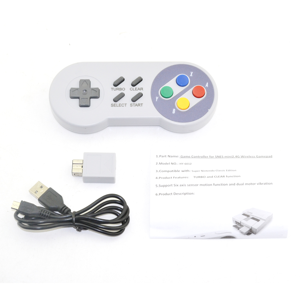Купить с кэшбэком xunbeifang Wireless  Button Style Controller  Gamepad for SNES mini console  with turbo and clear function