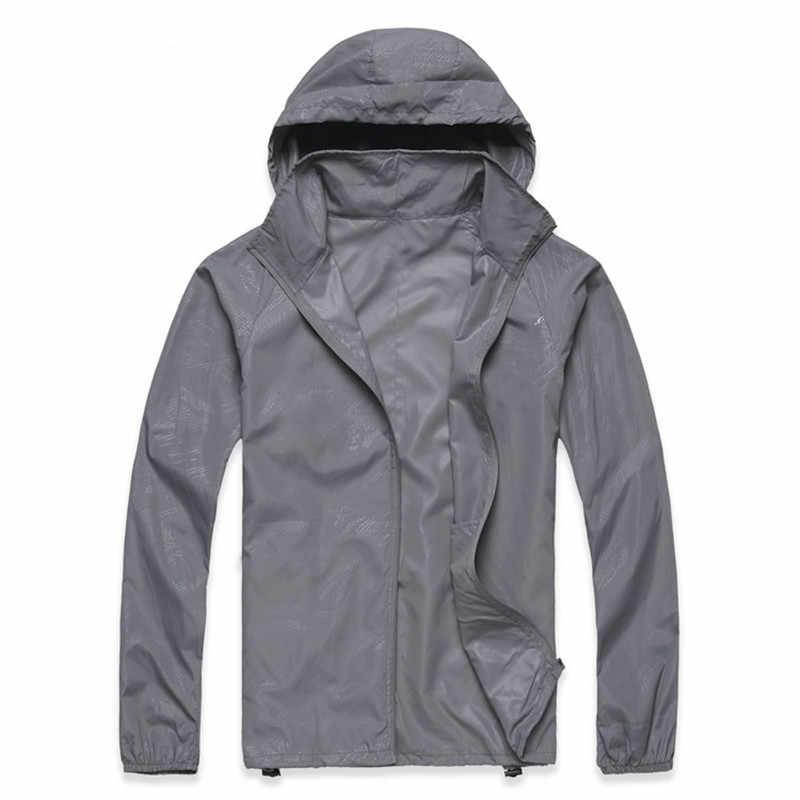 2019 春夏新作メンズクイックドライスキンジャケット女性コート防風防水超軽量ウインドブレーカージャケットブランド服