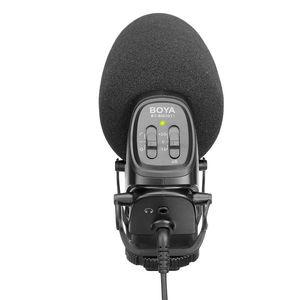 Image 3 - BOYA BY BM3031 On Camera Shotgun Microphone 3 Level Gain Control Condenser Mic for DSLR Audio Recorders Studio Video Interview