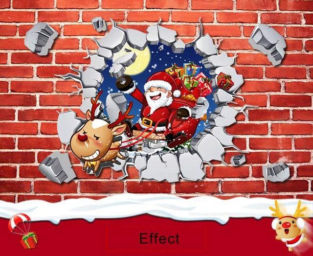 New45 60cm 3d Wall Stickers Cartoon Christmas Anime Children Room