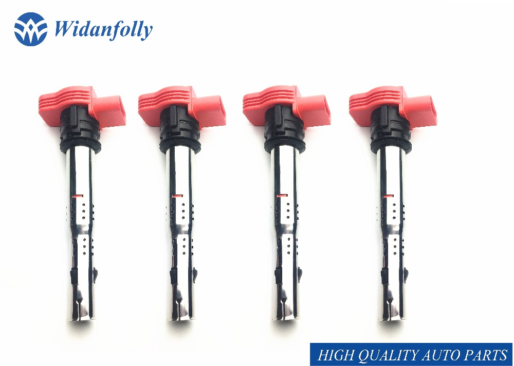 Widanfolly 4PC Ignition Coil For R8 Q5 Q7 S4 S6 A4 A5 A6 A8 3 0