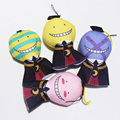 4pcs/set Anime Assassination Classroom Korosensei Plush Toys Soft Stuffed Dolls Phone Strap 12cm Free Shipping