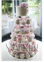 Exquisite akrylowym ciasto wieża Jakości towarów paczka poczty 6 okrągłe ciasto akrylowe sklep supermarket birthday party a tort weselny