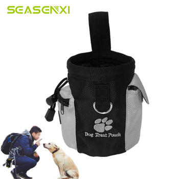 Portable Pet Dog Treat Pouch Dog Obedience Agility Training Treat Bags Detachable Pup Feed Pocket Puppy Snack Reward Waist Bag silicone dog training treat bags snack bag doggie pet feed pocket pouch puppy snack reward waist bag training behaviour aids