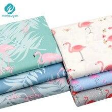 Mensugen flamingo cobertor estampado, 100% algodão, para fazer almofadas, berços, lençol de cama, vestido de costura
