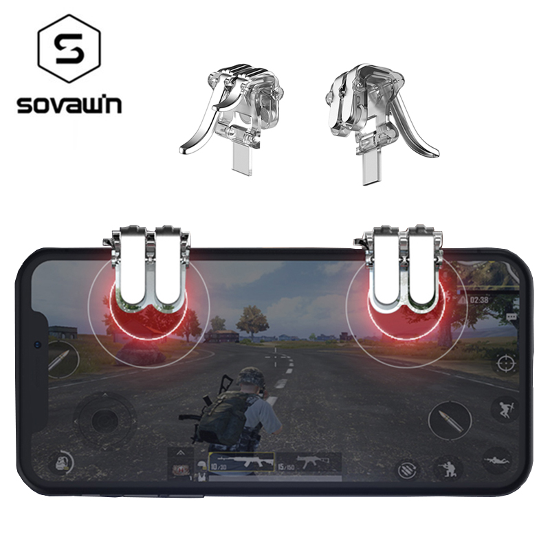 2pcs PUBG Mobile Joystick Android L1R1 Trigger Fire Button Controller Gamepad Aim Key Shooter for iPhone PUGB Gamer Key