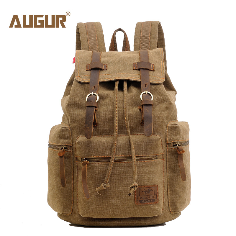 Augur brand Canvas backpack Large-Capacity Leisure Man Bag Multiple colors Backpack Laptop Backpack High-quality Travel Backpack