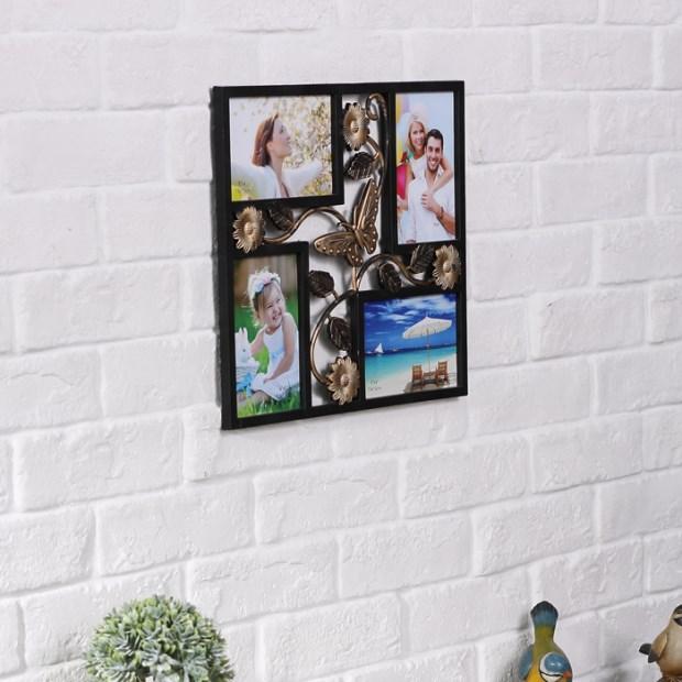 4x6 \'\'blanco 4 aberturas pared Collage marco | Blanco PVC marco ...