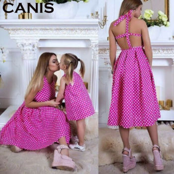 Family accessory clothing mother and daughter parent-child dress