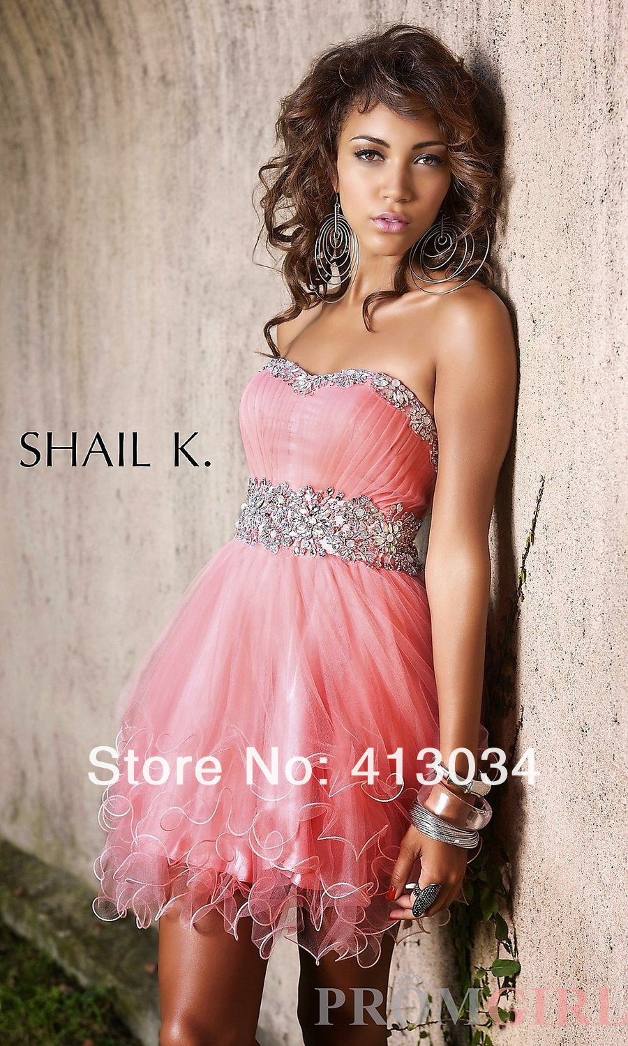 2beebf8d277 2013 Hot Sale New Short Strapless Shail K Prom Dress-in Cocktail Dresses  from Weddings   Events on Aliexpress.com