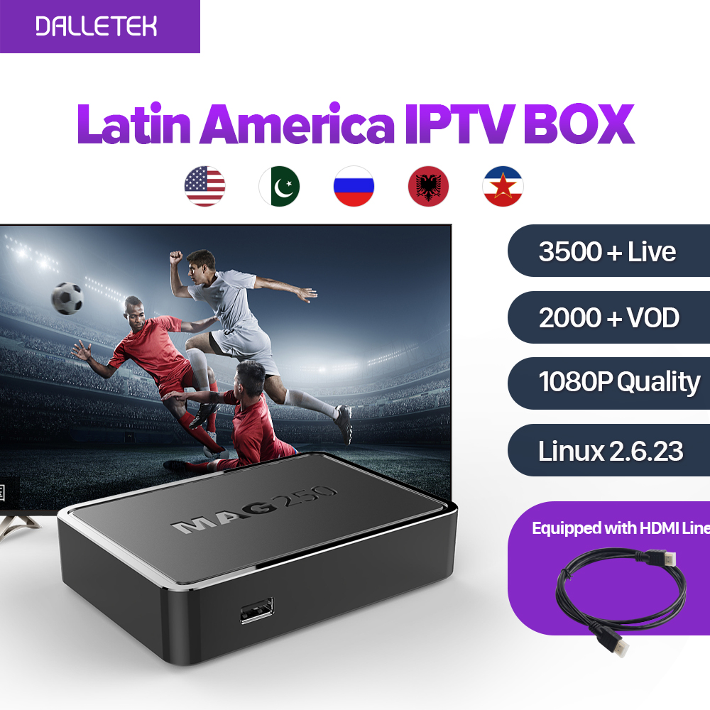 купить MAG250 Iptv Set Top Box Linux Latin American IPTV Box 3500+ Live Italy UK DE Spain Portugal Turkish Netherlands Channels MAG250 недорого
