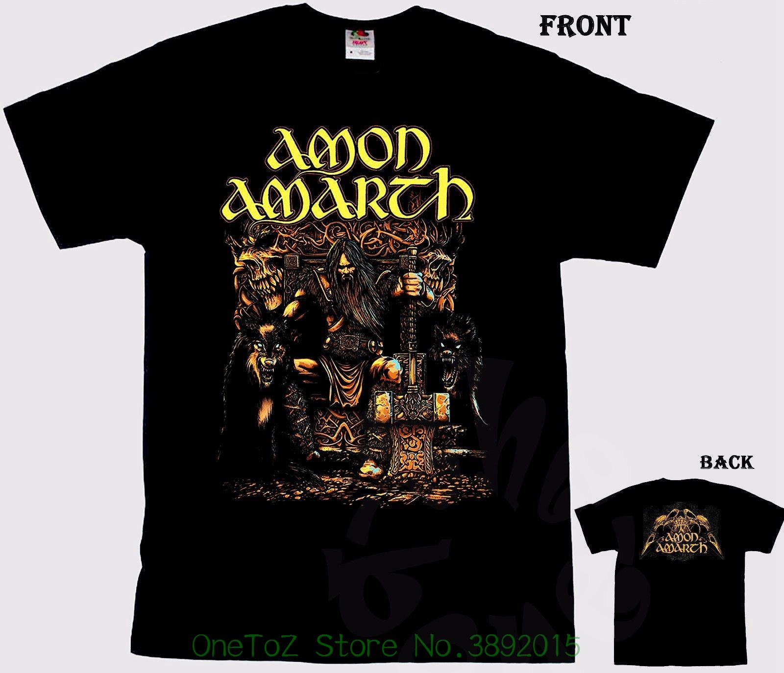 Print T Shirt Summer Style Hot Amon Amarth - Melodic Viking Death Metal Band , T-shirt - S Izes : S To 7xl ...