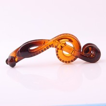 Newest Tortoise Hair Clip Solid Transparent Banana Hairpin Music Character Design Twist Clamps Fashion Accessories
