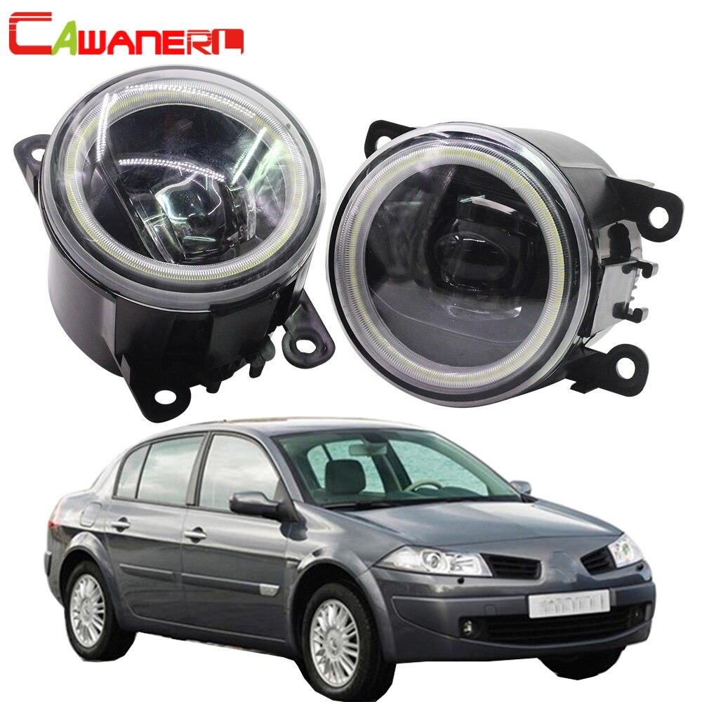 Cawanerl For Renault Megane 2 3 2002 2015 Car LED Bulb Fog Light Angel Eye DRL