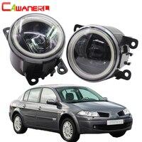 Cawanerl For Renault Megane 2 3 2002 2015 Car LED Bulb Fog Light Angel Eye DRL Daytime Running Light 12V Accessories