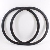 2Pcs New 700C 38mm Road Bike Matte UD Full Carbon Fibre Bicycle Wheels Clincher Rims With