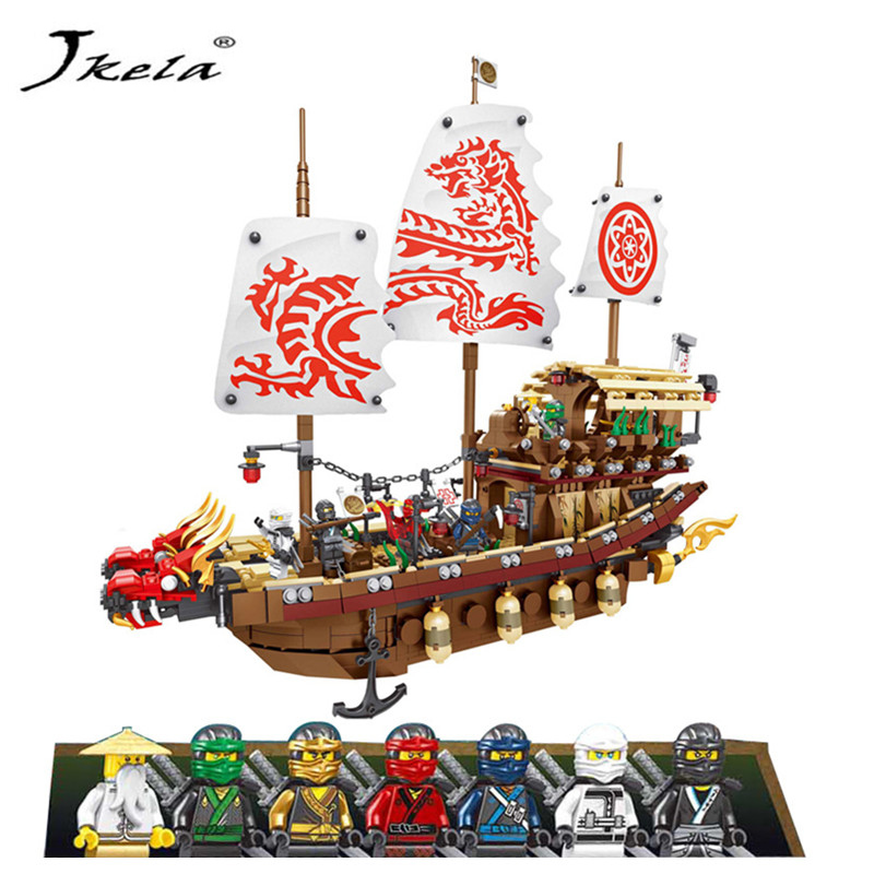 [Jkela] 2455pcs Ninja Final Fight Of Destiny's Bounty Building Block Compatible Legoingly Ninjaingly Brick Toys For Children
