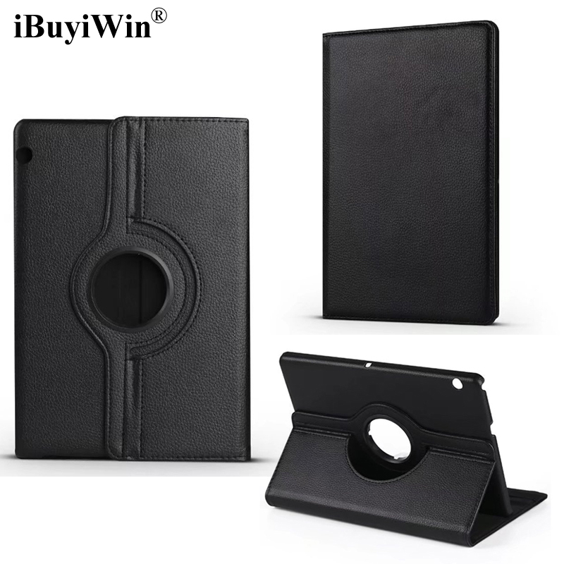 iBuyiWin 360 Rotating Case for Huawei MediaPad T3 10 AGS-L09 AGS-L03 Cover Stand PU Leather Cases for Honor Play Pad 2 9.6+Film leather case for huawei mediapad t3 10 9 6 slim stand holder wallet cover honor play pad 2 ags l09 ags l03 protector