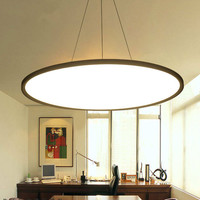 Ultra Thin LED Panel Circular Fashion Chandelier Creative Office Aluminum Bar Living Room Restaurant Hotel Light