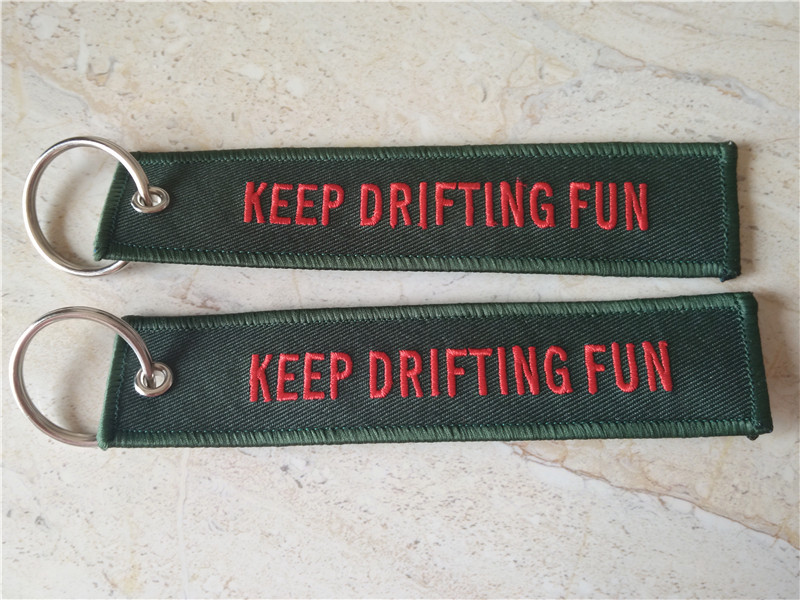 Keep Drifting Fun Customized Prom Embroidery Keychains