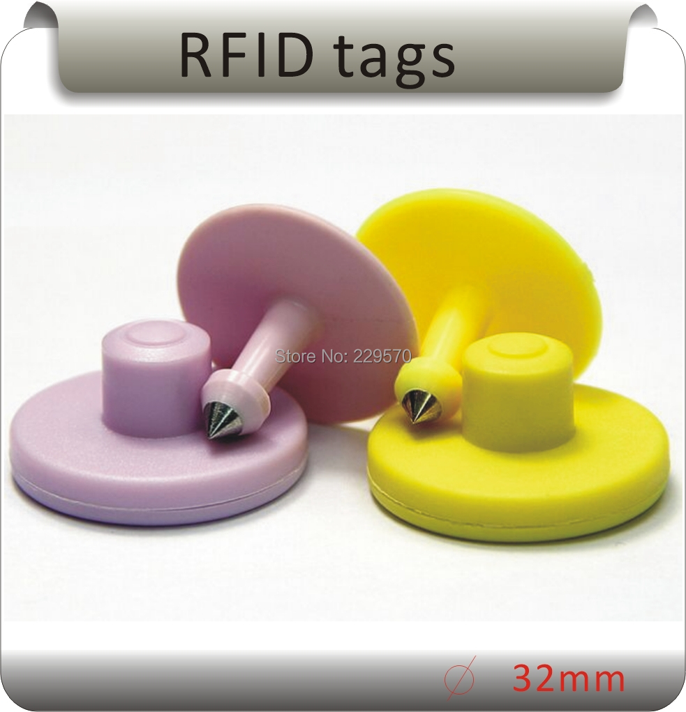 10pcs Supply of animal ear tag, a large number of professional production of electronic ear tags (TK4100 electronic ear tags!)  цены