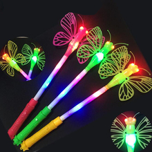 Glow Stick Light Up LED butterfly Stick For Wedding Decoration Concert Party Cheer Stick glow in the dark toys for children