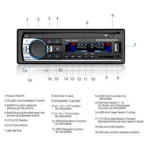Image 3 - 1 pc 자동차 라디오 블루투스 핸즈프리 전화 파이오니어 자동차 멀티미디어 mp3 플레이어 60wx4 자동 서브 우퍼 iso 전자 자동