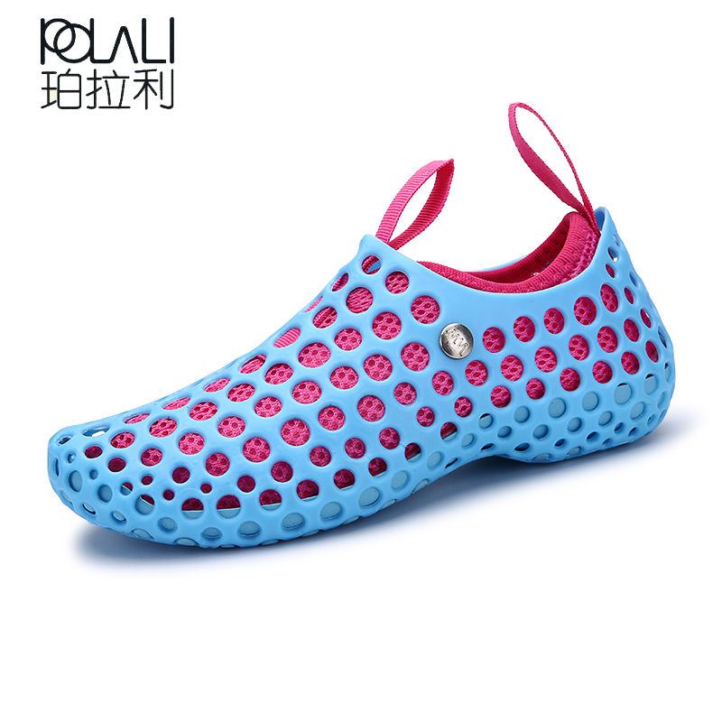 POLALI Summer New Chaussure Femme Women Water Shoes Slides Aqua Slippers  for Beach Slip On Waterpark 1717da9654a