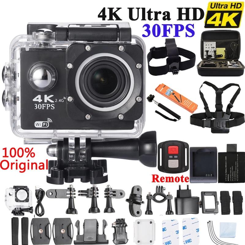 4 K Action Kamera Original F60/F60R Fern WiFi 2,0 LCD 170D Len Helm Cam Unterwasser go Wasserdicht pro camcorder 1080P @ 60fps