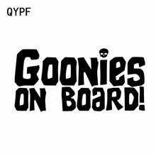 QYPF 15,2 см * 7,3 см, персональная Автомобильная виниловая наклейка «гооны на борту», Черная/Серебристая искусственная наклейка