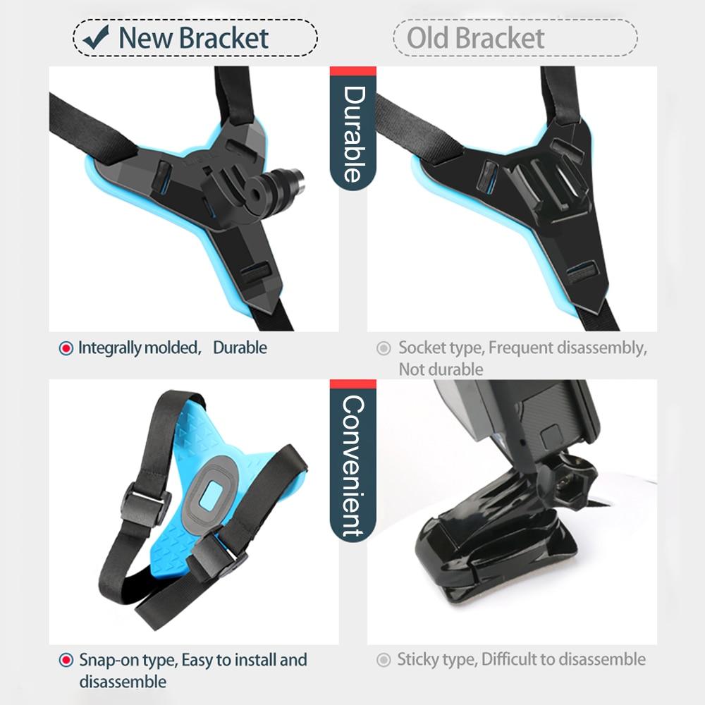 For GoPro Hero 7//6//5 Xiaomi Camera Anti-slip Motorcycle Helmet Chin Mount Holder