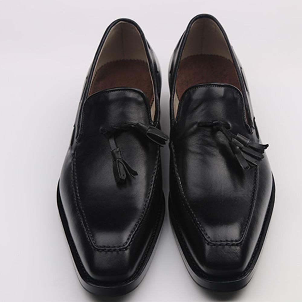 Luxury Brand Mens Custom Goodyear Welted Shoes Elegant Loafers With Tassel Italian Handmade Mens Designer Loafers Square Toe полироль пластика goodyear атлантическая свежесть матовый аэрозоль 400 мл