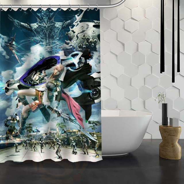 Custom Final Fantasy Shower Curtain Waterproof Fabric Shower Curtain For  Bathroom WJY1.17