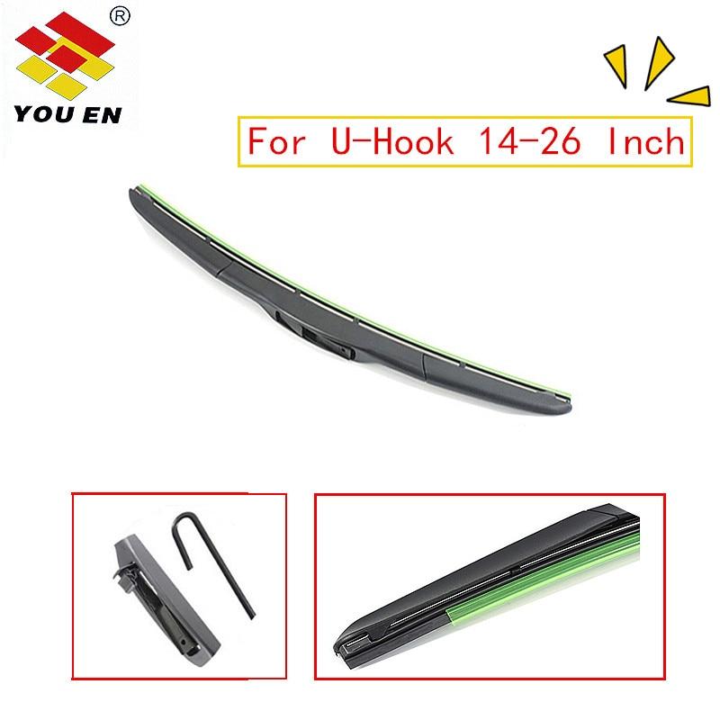 YOUEN 1 stück Auto Hybrid Wischer Klinge Universal U-Typ 14