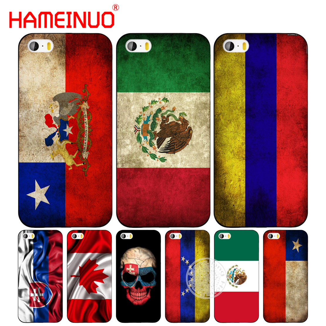 premium selection 11c0a 3d158 US $1.75 40% OFF|HAMEINUO slovak mexico canada chile colombia flag cell  phone Cover case for iphone 6 4 4s 5 5s SE 5c 6 6s 7 8 plus X-in  Half-wrapped ...