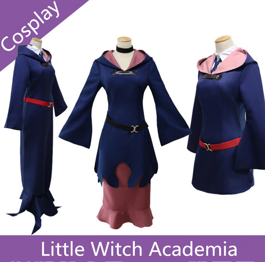 Anime Little Witch Academia Halloween Kagari Atsuko Witch Sucy Manbavaran Cosplay Costume Clothing Dress Cap
