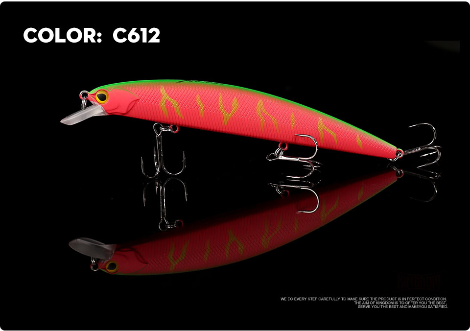_10Kingdom 130mm20g Fishing Lure Jerkbait Floating Minnow Decoy Fishing Tackle Wobblers Strong Hook For Sea Water Model 3523